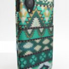 For LG Google Nexus 5 D820 Graphic Design Snap-On Phone Mint Green Aztec Pattern