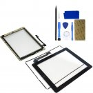 NEW iPad 4G Touch Screen Digitizer Assembly Kit Black Home Button Adhesive Tools