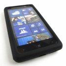 Black Soft Silicone Rubber Skin Case Cover Noka Lumia 820 Phone Accessory
