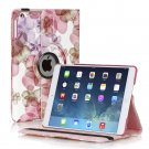 New Flower-Pink iPad Air 5 4 3 2 & iPad Mini PU Leather Case Smart Cover Stand