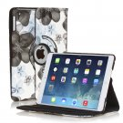 New Flower-Blue iPad Air 5 4 3 2 & iPad Mini PU Leather Case Smart Cover Stand