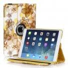 New Flower-Yellow iPad Air 5 4 3 2 & iPad Mini PU Leather Case Smart Cover Stand