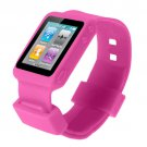 New Pink Silicone Watch Wrist Band Case For iPod Nano 6Th 6G