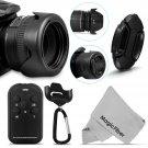 58MM Lens Hood & Wireless Control for Canon EOS 650D 600D 550D Rebel T4i T3i T2i