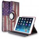 New Flag-USA iPad Air 4 3 2 & iPad Mini PU Leather Case Smart Cover Stand