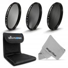 77MM ND Neutral Density Filter Set ND2 ND4 ND8 for Canon Nikon DSLR Camera Lens
