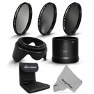 New Essential Filter Kit ND2 ND4 ND8,Lens Hood for Nikon Coolpix L810 L820 L830