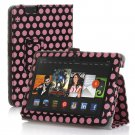 """New Polka Dot-Pink Kindle Fire HDX 7"""" PU Leather Folio Stand Cover Case"""