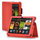 "New Plain-Orange Kindle Fire HDX 8.9"" 2013 PU Leather Folio Stand Cover Case"