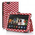"New Polka Dot-Red Kindle Fire HDX 8.9"" 2013 PU Leather Folio Stand Cover Case"