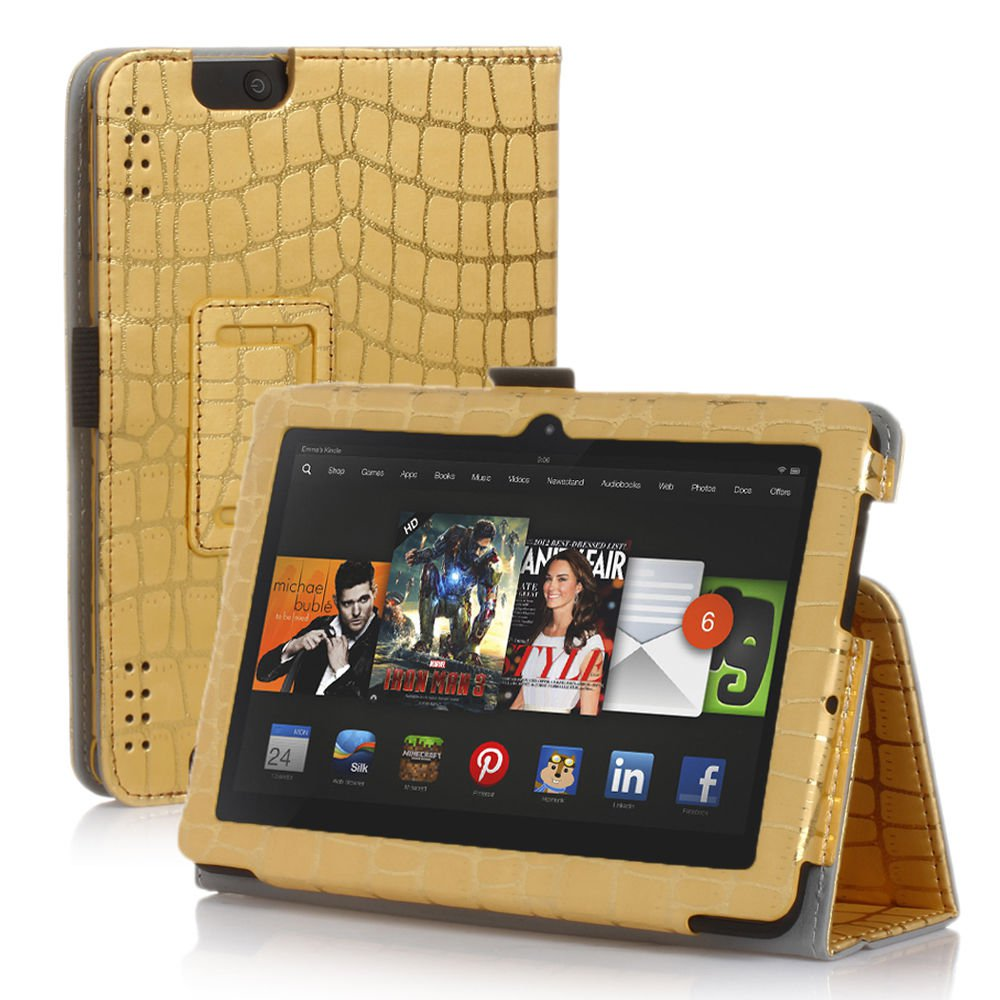new gold stripe gold kindle fire hdx 8 9 2013 pu leather