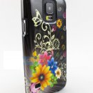 Purple silver vines Samsung Galaxy S 5 Graphic Design Snap-On Phone Case Covers Stylus Pen