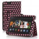 "New Polka Dot-Pink Kindle Fire HD 7 2nd 2013"" 2013 PU Leather Folio Stand Cover Case"