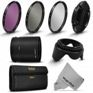 New UV Polarizer FLD Filter Kit,Adapter Tube for Nikon Coolpix P510 P520 P530