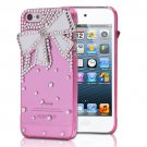3D Bling Crystal Rhinestone Bow Tie Hard Cover Case For Apple iPhone 5 5G 5th