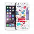 New London Bus Tower Bridge iPhone 6 4.7-6 Plus 5.5 Hard Snap-on Case Cover-Screen Protectors