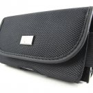 New Black Horizontal Rugged Clip Pouch Holster Case For Motorola Droid Turbo