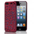Red Bird's Nest Design Hard Snap On Case Cover For Apple iPhone 5S 5 5th Ge
