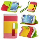 For Galaxy S3,S4,Note 2,Grand Yellow Hybrid Leather Wallet Flip Pouch Case Cover