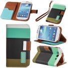 Brown Hybrid Leather Wallet Flip Pouch Case Cover For GalaxyS3,S4,Note2,Grand