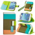Khaki Hybrid Leather Wallet Flip Pouch Case Cover For GalaxyS3,S4,Note2,Grand