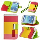 Yellow Hybrid Leather Wallet Flip Pouch Case Cover For GalaxyS3,S4,Note2,Grand