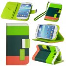 Gray Hybrid Leather Wallet Flip Pouch Case Cover For GalaxyS3,S4,Note2,Grand