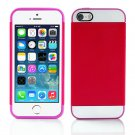 Claret and Rose Hybrid Hard TPU Case Combo Cover For Apple iPhone5S 5 5C 4S