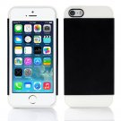 Black and White Hybrid Hard TPU Case Combo Cover For Apple iPhone 5c
