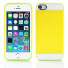 Yellow and Green Hybrid Hard TPU Case Combo Cover For Apple iPhone 5c