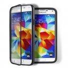 Black Transparent Soft TPU Wrap Up Flip Case Cover For Samsung GalaxyS5 i9600 SV