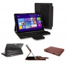 For Microsoft Surface Pro 3 Portfolio PU Leather Stand Case Keyboard Station