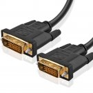 Gold Plated DVI-D M M DVI Male to DVI Male Digital Dual Link Cable 15FT Black