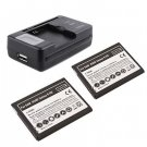 2X Battery USB Dock Wall Battery Charger For Samsung Galaxy SIII S3 I9300
