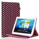 New Polka Dot-Pink Case Smart Cover Stand For Samsung Galaxy Tab 2 Note 8.0