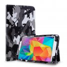 New Camouflage Black Tablet Samsung Galaxy Tab 4 Folio Stand Smart Cover Case