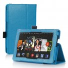 Blue Leather Stand Hand Strap Case Cover For New HD 7 2nd Gen
