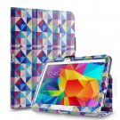 New Colorful Square Tablet Samsung Galaxy Tab 4 Folio Stand Smart Cover Case