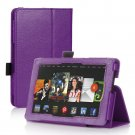 Purple Leather Stand Hand Strap Case Cover For New HD 7 2nd Gen