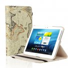 New World Navy Map Beige Ivory Smart Cover Stand For Samsung Galaxy Tab 2 Note 8.0