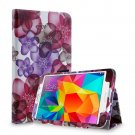 New Flower Pink Tablet Samsung Galaxy Tab 4 Folio Stand Smart Cover Case