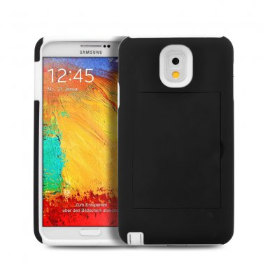 Credit Card Wallet Case Hybrid Stand Hard Cover For Samsung Galaxy S3 19300