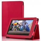 New Red PU Leather Folio Cover Case Stand For Amazon Kindle Fire