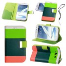 Hybrid Leather Wallet Case For Samsung Galaxy Grand I9080 I9082 Green
