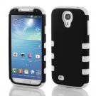Black Hybrid Rugged Rubber Matte Hard Case Cover For Samsung Galaxy S4 SIV i9500