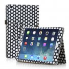 New Polka Dot Black Slim PU Leather Case Cover For Apple iPad 1 1st Generation