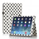 New Polka Dot Black on white Slim PU Leather Case Cover For Apple iPad 1 1st Gen