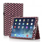 New Polka Dot Pink Slim PU Leather Case Cover For Apple iPad 1 1st Gen