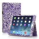 New Leopard Purple Slim PU Leather Case Cover For Apple iPad 1 1st Gen