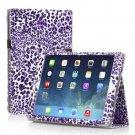 New Leopard Purple Slim PU Leather Case Cover For Apple iPad 1 1st Gen